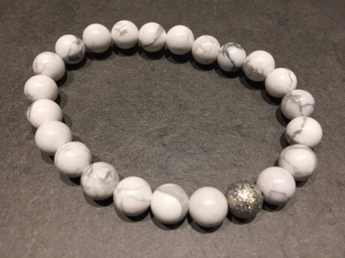 Bracelet Howlite - Tolérance