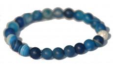 Bracelet Agate teintée bleue - Décision