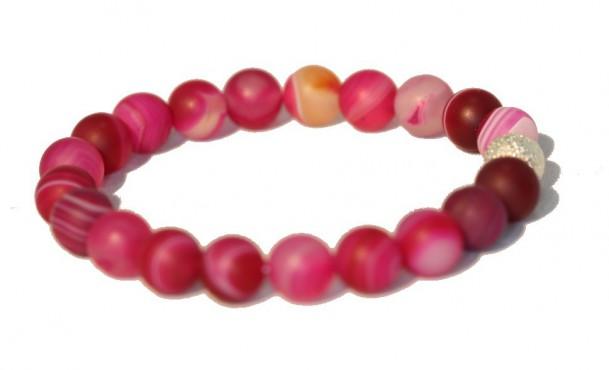 Bracelet Agate teintée Rose - Décision