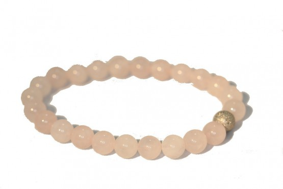Roze quartz armband