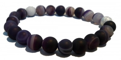 Bracelet Agate teintée Mauve