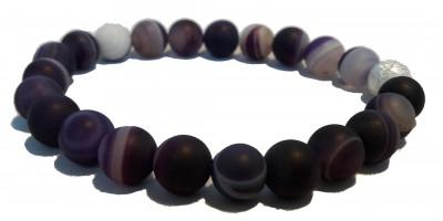 Bracelet Agate teintée Mauve