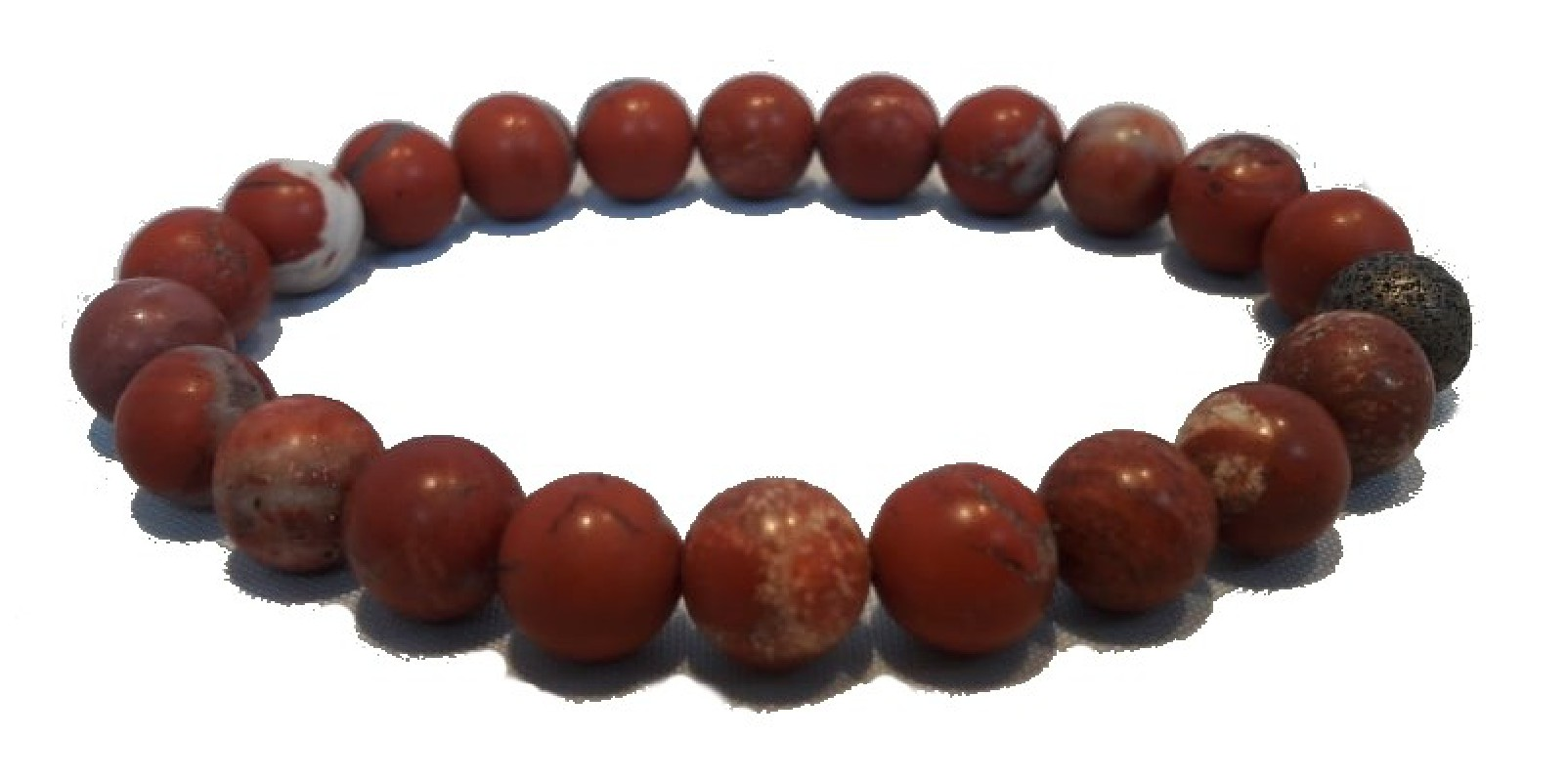 Bracelet Jaspe rouge - Ancrage